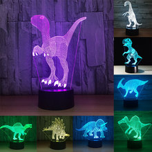 Christmas Gift 3D Dinosaur Acrylic LED Night Light Touch 7 Color Change Desk Table Lamp Party Decorative Cristmas Decoration led rgbw colorful color change christmas trees decoration wedding furniture decoration lamp