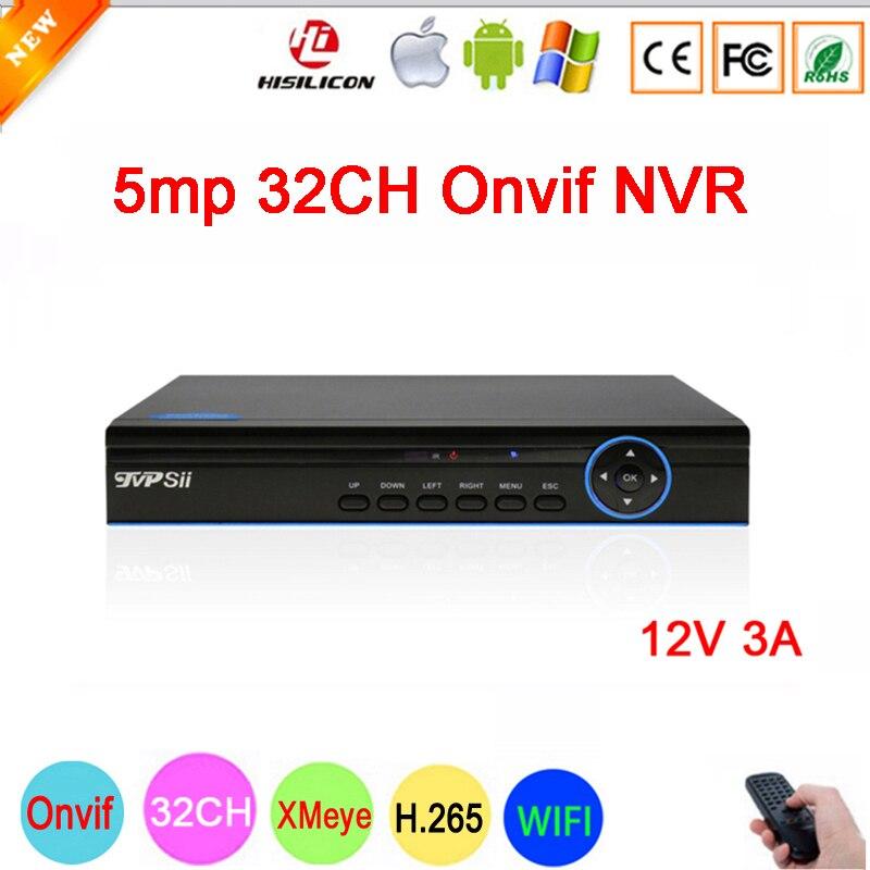 Blue Panel Hi3536C XMeye 8CH 4K 32CH 5MP Surveillance Video Recorder 5MP 32CH 32 Channel WIFI Onvif IP Camera NVR main picture