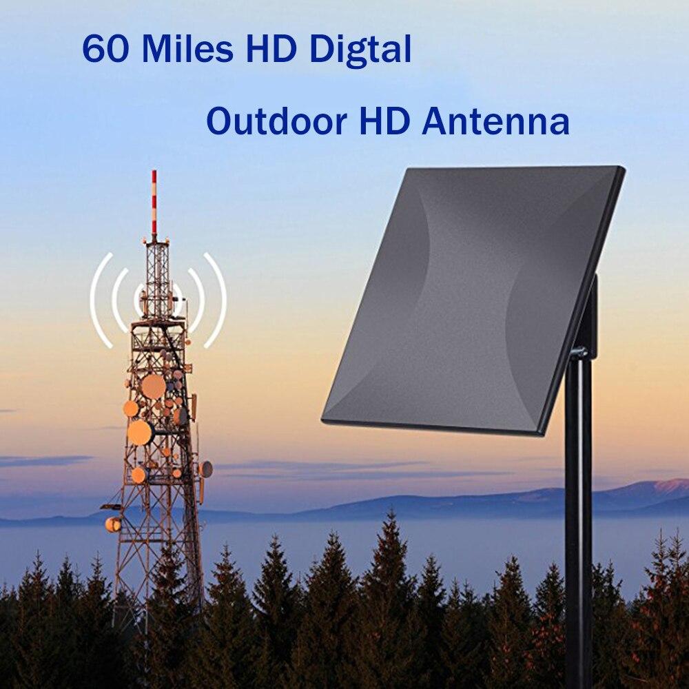 Antenne TV amplifiée extérieure antenne HDTV omnidirectionnelle amplificateur détachable Signal Booster réception élevée pour FM/VHF/UHF