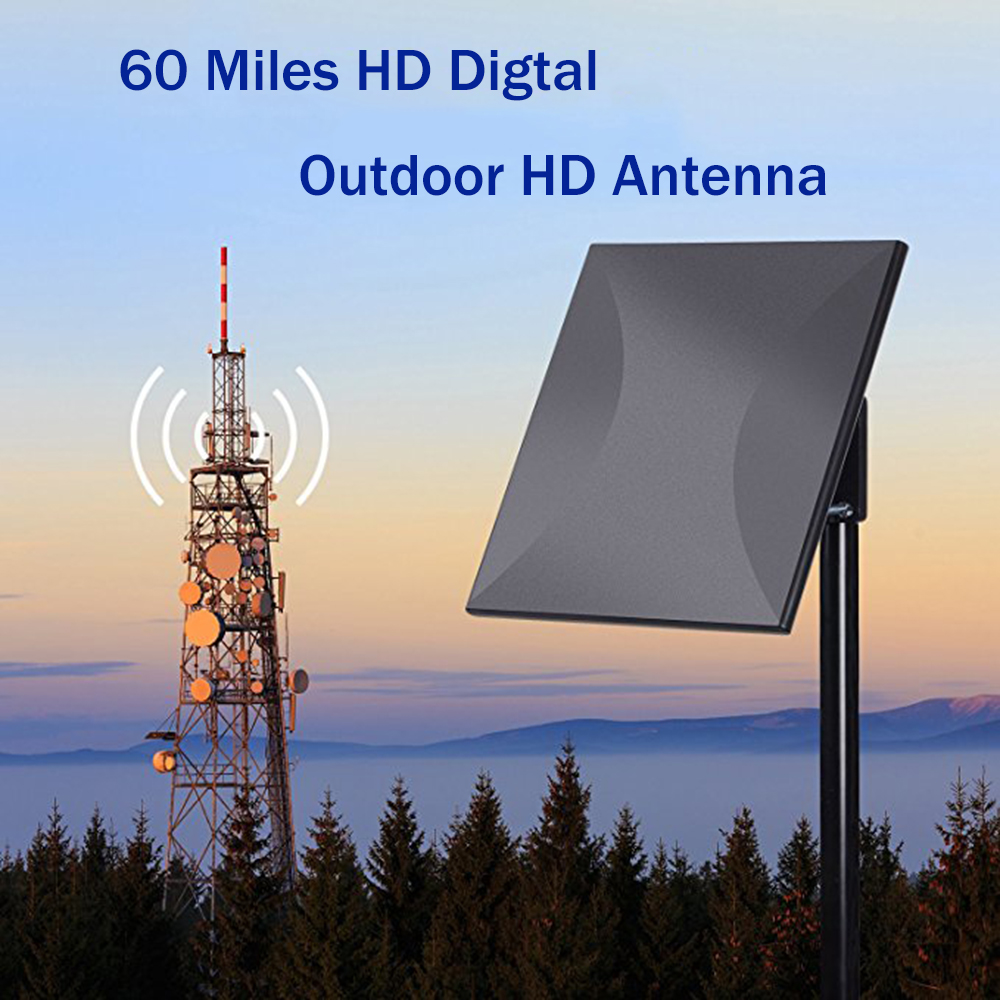 цена на Outdoor Amplified TV Antenna Omni Directional HDTV Antenna Detachable Amplifier Signal Booster High Reception for FM/VHF/UHF