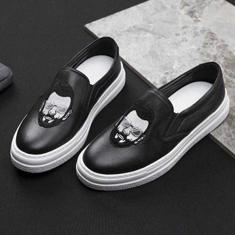 Cuir Sneaker Hommes Vache Paresseux D'été De allumette Automne Chaussures Respirant Tout En Printemps Occasionnels Mode Véritable gFqXXzw4v