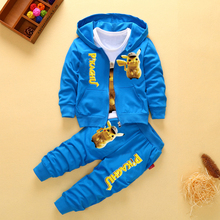 2019 New Children Kids Boys Clothing Sets Autumn Pikachu Set