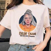 Billie Eilish t shirt ulzzang femmes femme hip hop femme vêtements t-shirt drôle harajuku décontracté ulzzang t-shirt streetwear