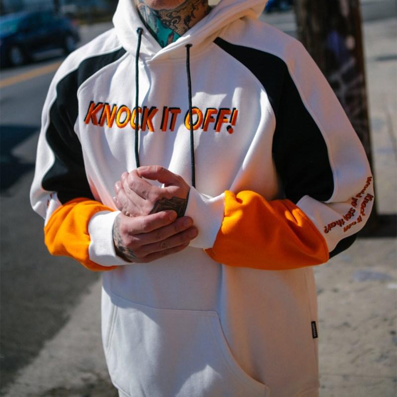 VEGORRS hommes Sportswear frapper à la lettre impression hommes pull à capuche Hip Hop hommes survêtement Sweatshirts haut vêtements couleur blanche
