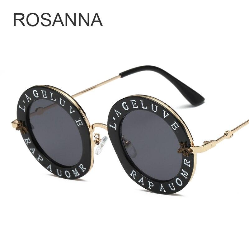2018 neue Mode Retro Runde Buchstaben Sonnenbrille Transparent Rahmen Farbton Objektiv Sonnenbrille Trend Kreis Sonnenbrille Weibliche UV400