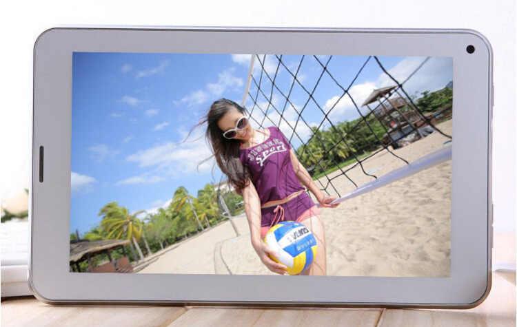 2g telefone chamada 512 mb + 4 gb 1024*600 câmera dupla a33 quad-core android 4.4 7 polegada 86 v tablet branco