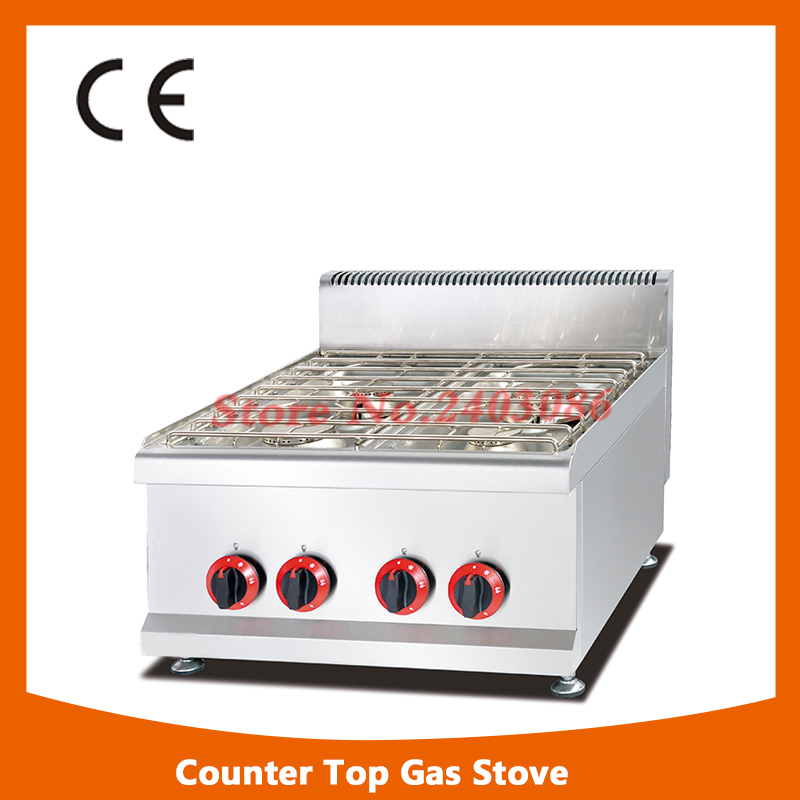 все цены на 2017 Hot sale stainless steel counter top gas stove with 4-burner онлайн