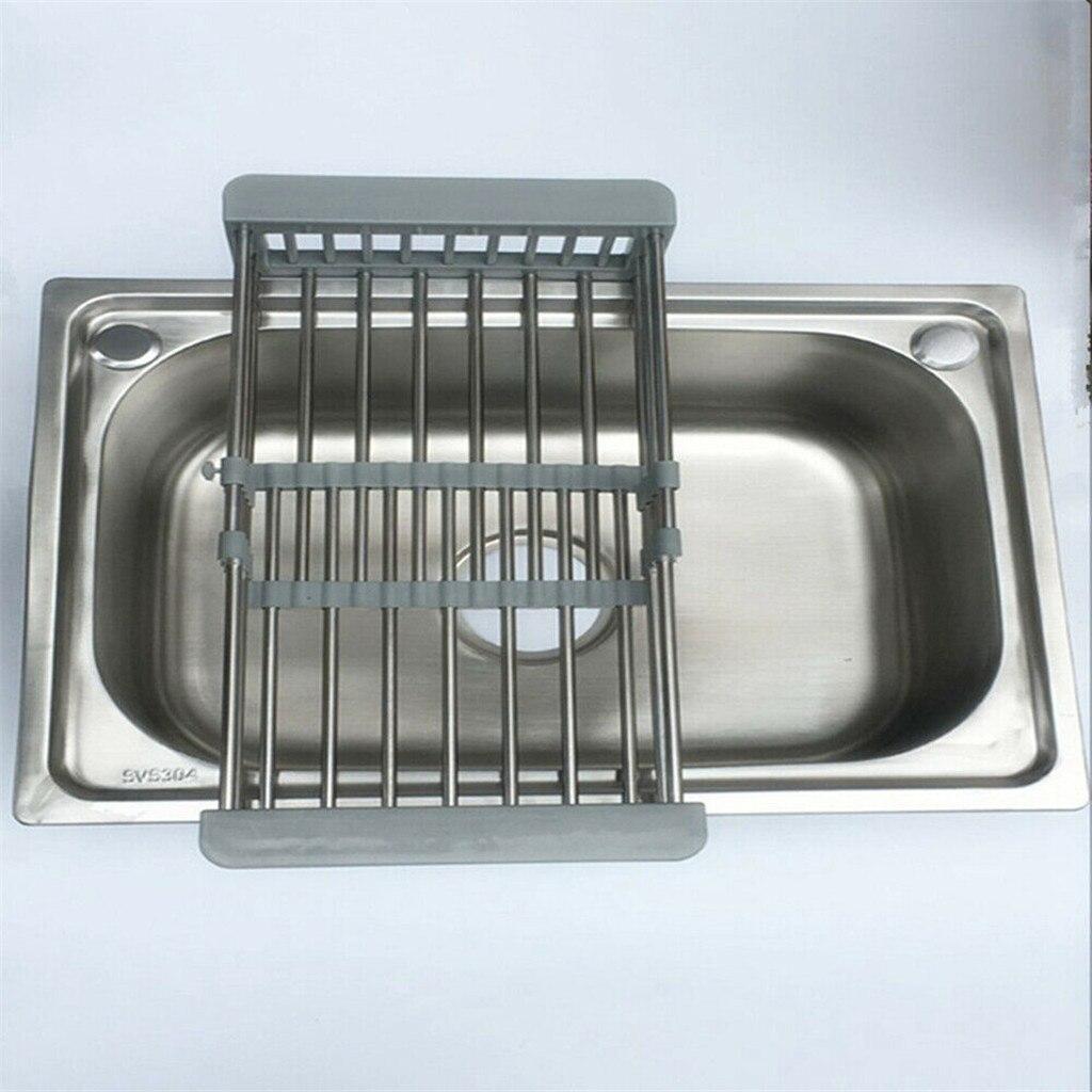 2020 Полка Корзина для слива из нержавеющей стали телескопическая раковина для посуды для кухни сливная полка Установка Держатель для кухни