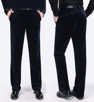Men Corduroy Pants Spring Autumn Long Length Trousers Straight Simple Men Casual Solid Men High Quality