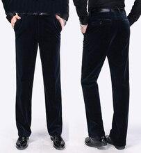 Männer Cord Hosen Frühjahr Herbst Lange Länge Hosen Gerade Einfacher Men Casual Solide Männer Hohe Qualität Hohe Taille Hosen 6 farbe