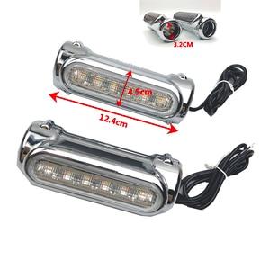 Image 5 - אופנוע התרסקות ברים LED כביש בר Switchback נהיגה אור/הפעל אות אור עבור הארלי אופני סיור נצחון שחור/כרום
