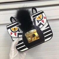 Kleurblok print lederen kleine Messenger Bag Beroemde Merken Ontwerpers vrouwelijke Luxe mini ketting flap Schoudertas bolsas