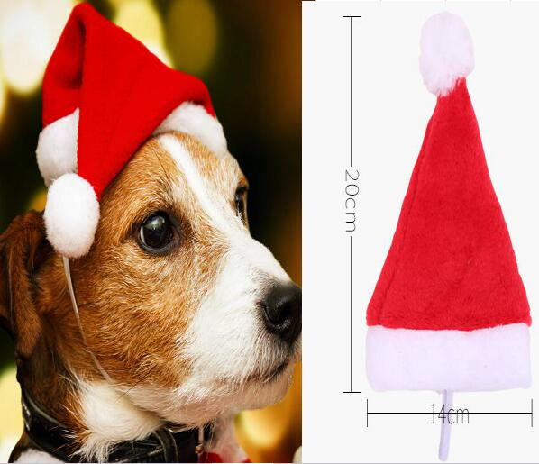 50pc lot Pet dog puppy Christmas Caps red Hat For Dogs Cats Gift dog Christmas