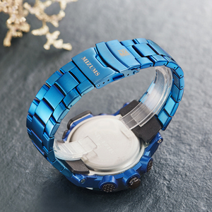 Image 5 - ゴールド腕時計メンズledデジタルスポーツ腕時計男性防水ステンレス鋼バンド高級ブランドmizumsメンズクォーツ腕時計xfcs