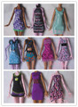 Free Shipping,8items=4pcs clothes + 4 pcs hangers for Monster High Dolls