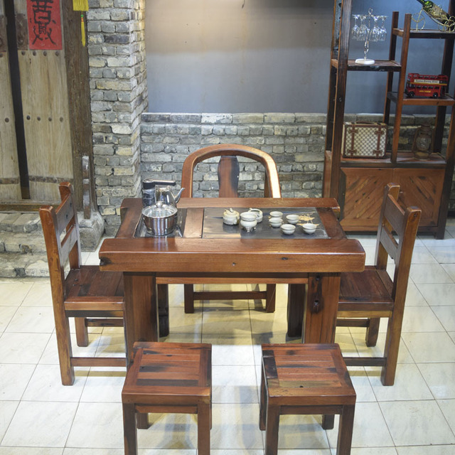 The old ship wood furniture solid wood antique kung fu tea table wood tea  old ship - The Old Ship Wood Furniture Solid Wood Antique Kung Fu Tea Table