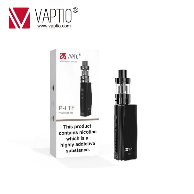 Electronic cigarette Vaptio P1 Kit 50W Vaporizer 2100mah Built in battery 3.0ml E-liquid Atomizer coil 0.25ohm resistance vapor