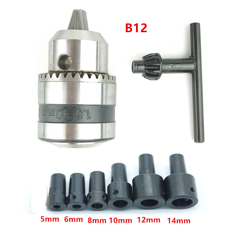 1.5-10mm Clamp B12 Taper Electric Drill Chuck With Connecting Rod Sleeve