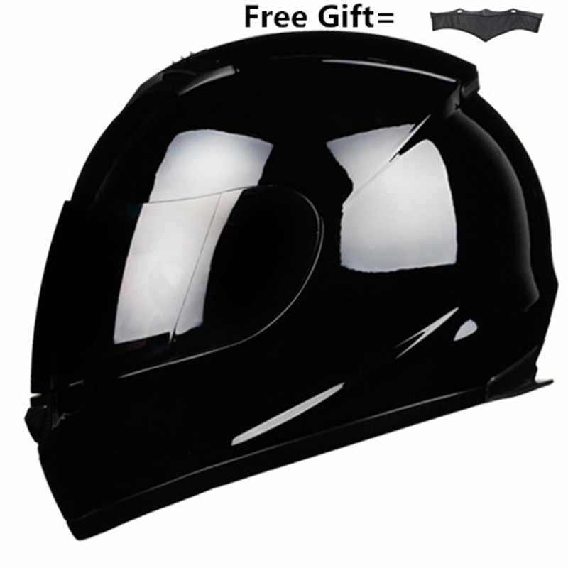 Completa Rosto Capacete Da Motocicleta que Compete Capacete Kask Casco Motocross Off Road De Moto Motociclista DOT Gloss preto S-