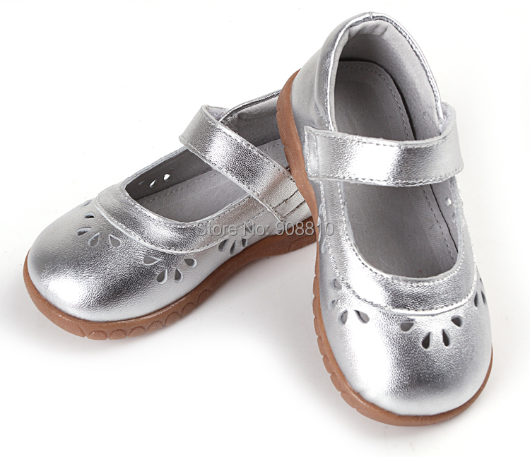 872aa9a743e5 girls shoes leather silver mary jane soft toddler shoes flower cutouts for  spring summer autumn for wedding flower little kids-in Leather Shoes from  Mother ...
