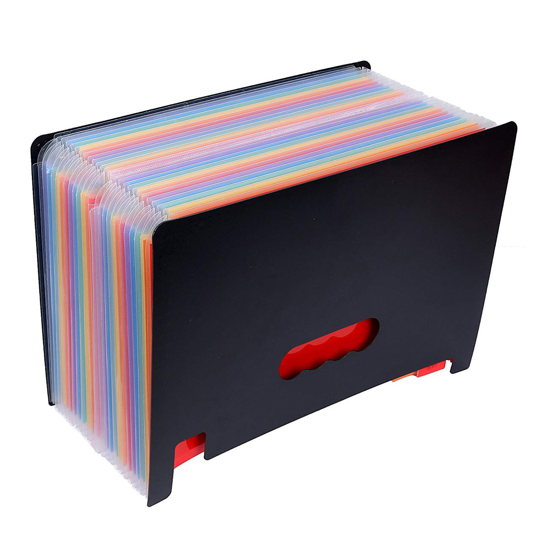 MIRUI Pockets Expanding File Folder Large Space Design A4 Filing Folders Box File Business Home Office Document Accordion File