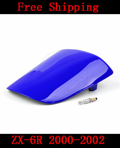 For Kawasaki ZX6R ZX 6R 2000-2002 motorbike seat cover Brand New Motorcycle Blue fairing rear sear cowl cover Free Shipping H38 for honda cbr600rr 2007 2008 2009 2010 2011 2012 motorbike seat cover cbr 600 rr motorcycle red fairing rear sear cowl cover