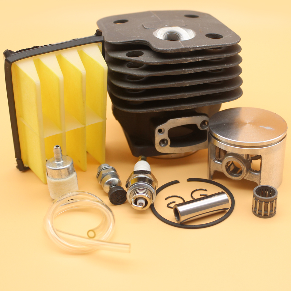 52mm Cylinder Piston Air Fuel Filter Engine Kit For HUSQVARNA 268 272 XP 272K 272XP Chainsaw Motor Parts 52mm cylinder barrel & piston assembly fits husqvarna 268 272 chainsaw part