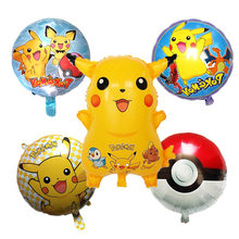 Free shipping Pikachu Pokemon Foil Ball series aluminum Air balloons set children's Day Birthday holiday party decorations toys(China)