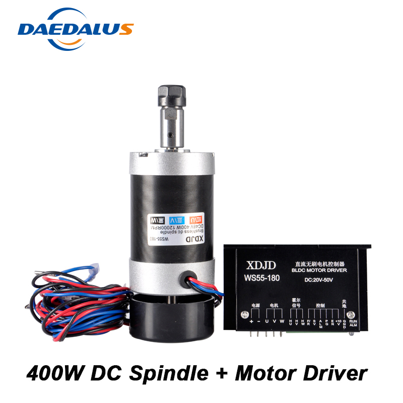 Brushless 400W CNC Spindle Motor ER11 Router Bit Tools 55MM Machine Tool Spindle + Brushless Stepper Motor Driver Controller sennheiser gam 2