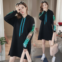Winter Pregnancy Sweatshirt Hoodies Casual Outwear Pullovers Maternity Clothes For Pregnant Women Female Clothing