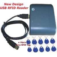 Controle de acesso 125 khz RFID USB Leitor de Cartões Inteligentes Novo Design Cor Verde Compatível EM100 Sensor de Proximidade Sistema & 10 pcs Keytag