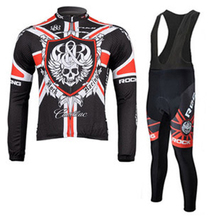 2015 NEW ROCK RACING Team Cycling long sleeve cycling jersey/ clothing/ wear+long bib suit