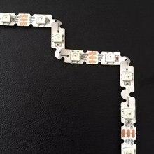 SK6812-RGB гибкая адресуемых СВЕТОДИОДНЫЙ пиксель полосы; 48 Светодиодный s с 48 пикс./м; из водонепроницаемого материала; белый PCB; DC5V вход