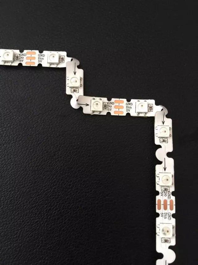 SK6812-RGB Bendable Addressable LED Pixel Strip;48leds With 48pixels/m;non-waterproof;WHITE PCB;DC5V Input