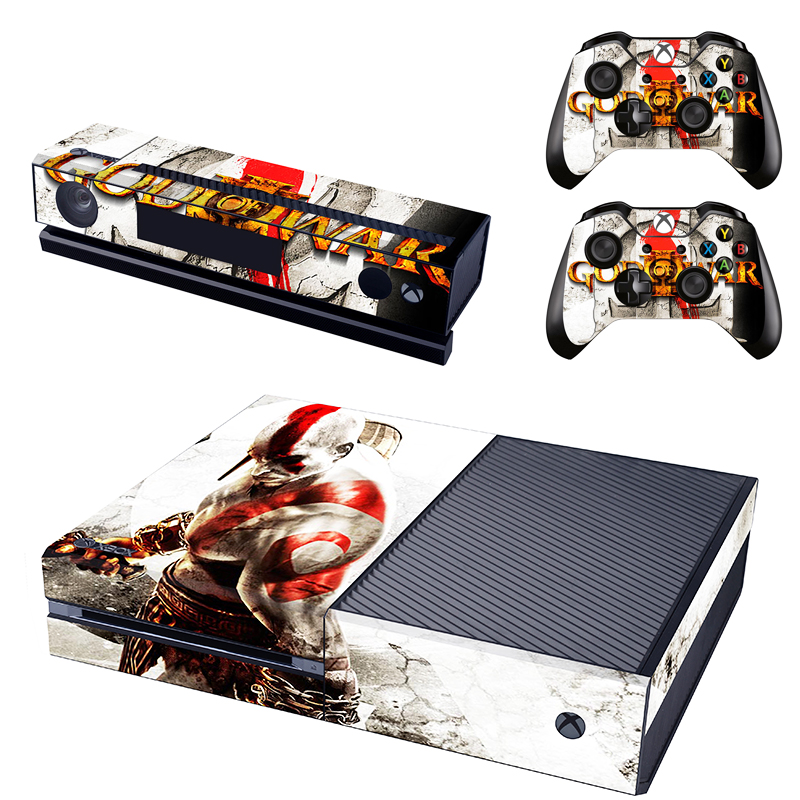 Homereally pvc skin sticker classic god of war custom decal cover for xbox one console and 2 controller skins in stickers from consumer electronics on