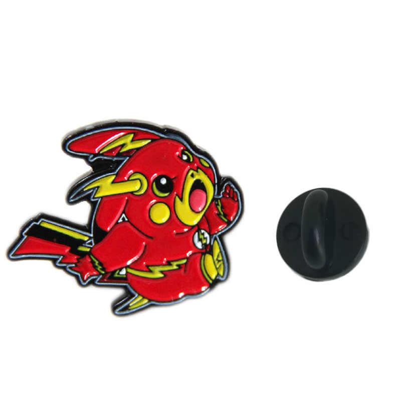 Del fumetto di Pikachu Spille e Dello Smalto Spille Sveglio Pokemon Metallo Risvolto Spille Borse Zaino Distintivo Regali