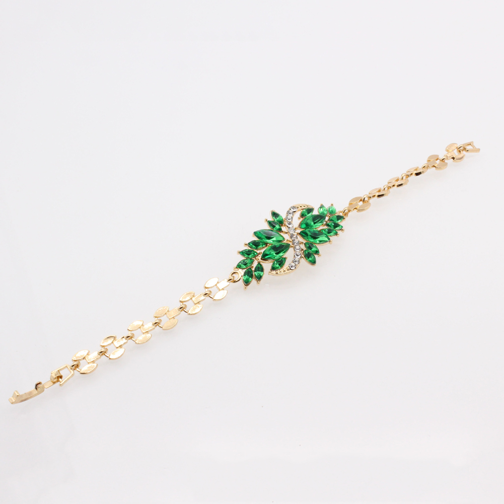 Fancy Rhinestone Chain Bracelet Flower Design Hot Selling Women Jewelry For Party  Gifts Elegant And Generous-in Charm Bracelets from Jewelry   Accessories ... 92955a76b70e
