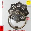 The Chinese ancestral temple gate flower small town house gossip antique copper 12cm handle door knocker / ring