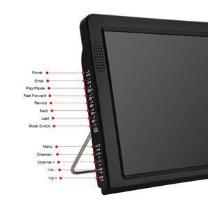 Image 4 - HD портативный телевизор, 12 дюймовый цифровой и аналоговый Led телевизор, поддержка tf карты, USB аудио, автомобильное телевидение, HDMI вход, DVB T, DVB T2, AC3