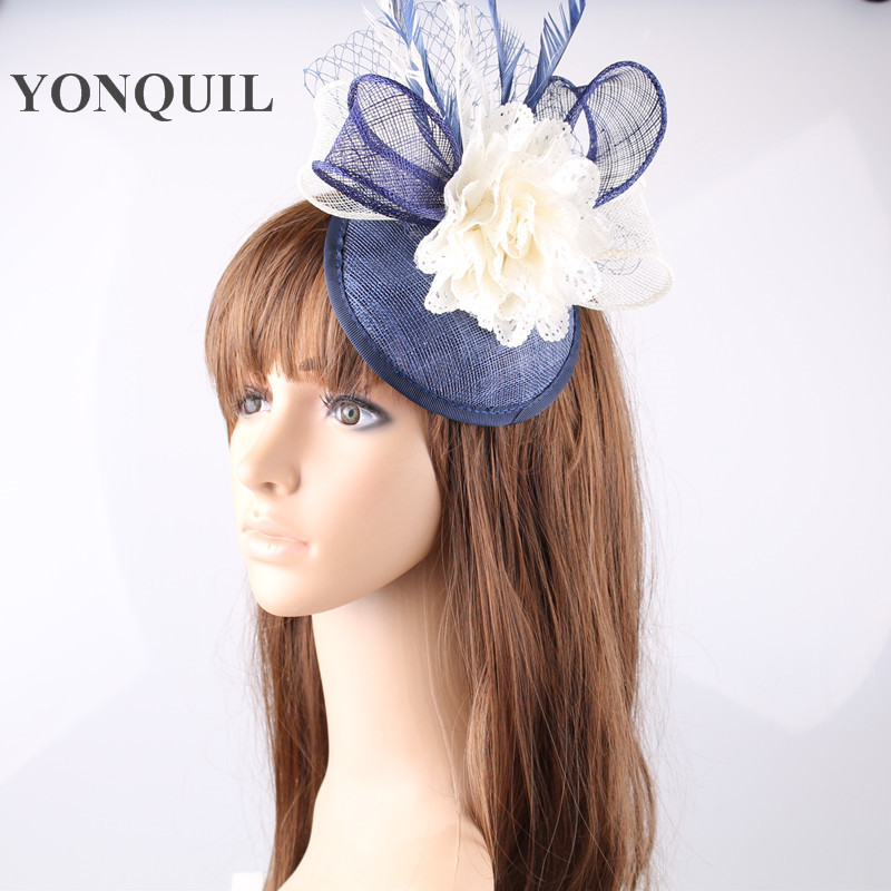 17 colors women fancy feather chic fascinator hats silk flower 17 colors women fancy feather chic fascinator hats silk flower wedding hats fascinator hair accessories for elegant bridal woman mightylinksfo