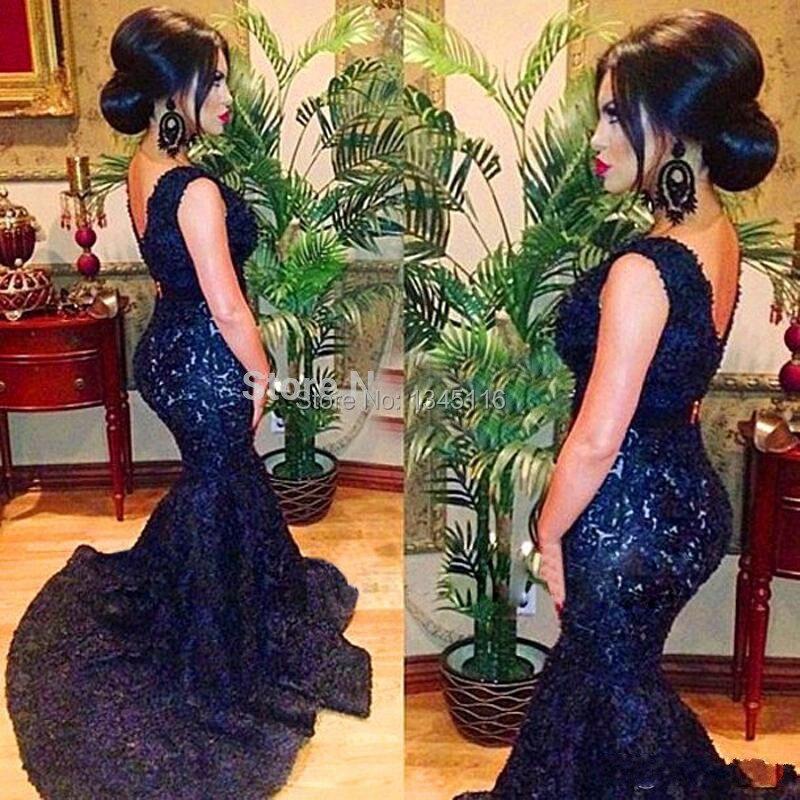 Popular Long Navy Blue Prom Dress-Buy Cheap Long Navy Blue Prom ...