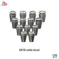 13 unids/lote ER16 1-10mm Juego de colchas de resorte para fresadora cnc