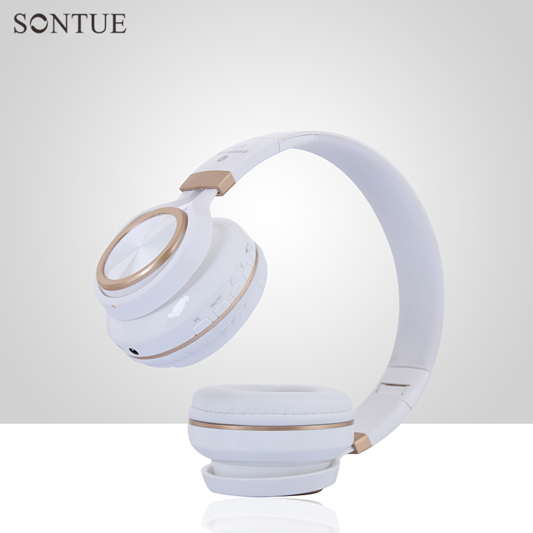 S110 white Hi-Res super stereo bass wireless bluetooth headphone with microphone FM radio TF cards play bs 361 folding stereo bass headphones w tf fm speaker deep blue white