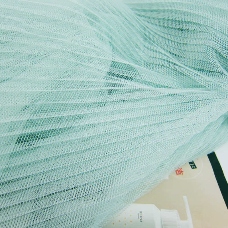 10Metres 150cm Width Evening Gowns Pleated Mesh Fabric Aqua Blue Crumpled Tulle Net Fabric For Organ