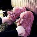 Зима Симпатичные Короткие Плюшевые Щурясь Овец Chinelo Masculino Pantofole Донна Животных Мужская Обувь Mujer Pantuflas Тапочки Женщин Дома