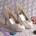 Custom Handmade Dropshipping Cream Bridal Shoes Platform Heel Size 34~42 Wedding Pumps