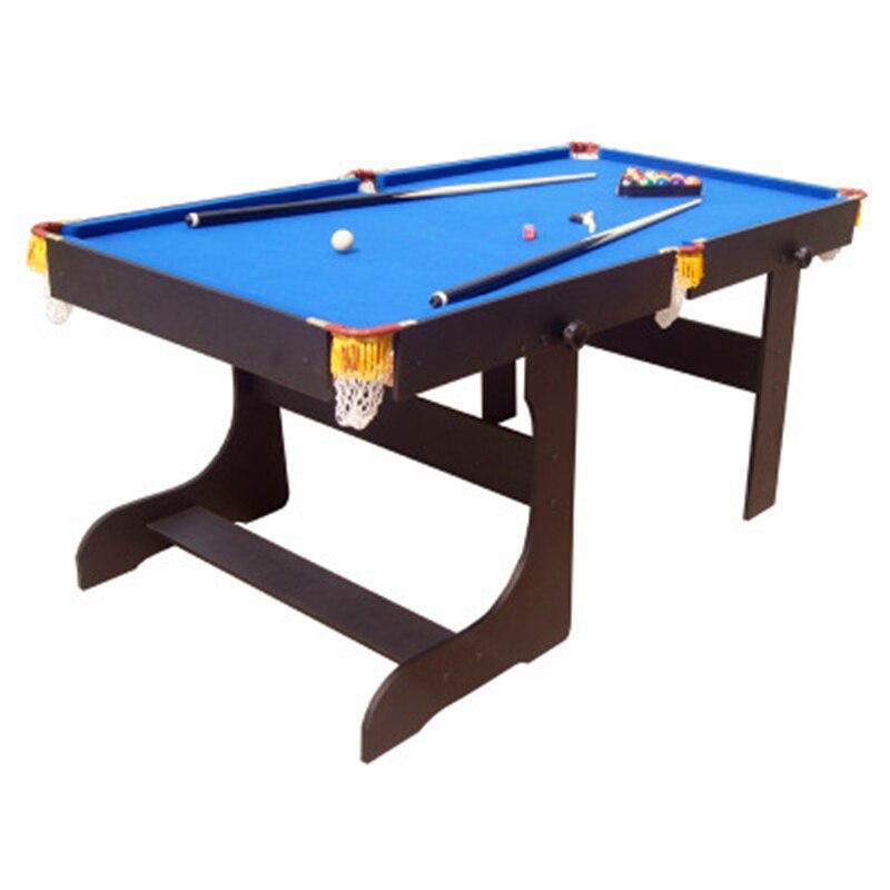 Style américain 5 pieds Bois Pliable Table De Billard Avec 16 pièces Boules 2 Cue Cadre Solide et jambe Équipement De Sport Billard