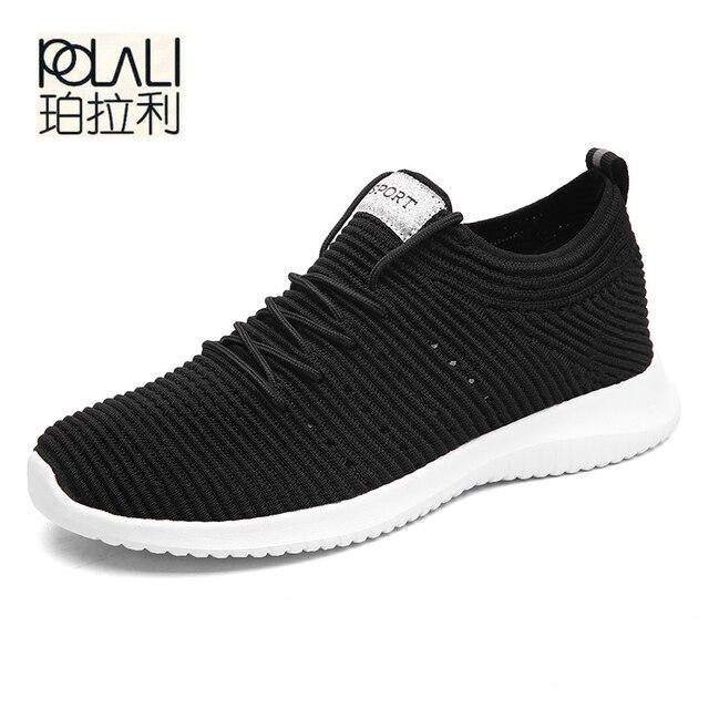 c909c5e05bda POLALI 2018 Spring Autumn Classic New Men S Shoes Low-Cut Casual Flyweather  Men S Fashion Low To Help Fashion Men Casual Shoes