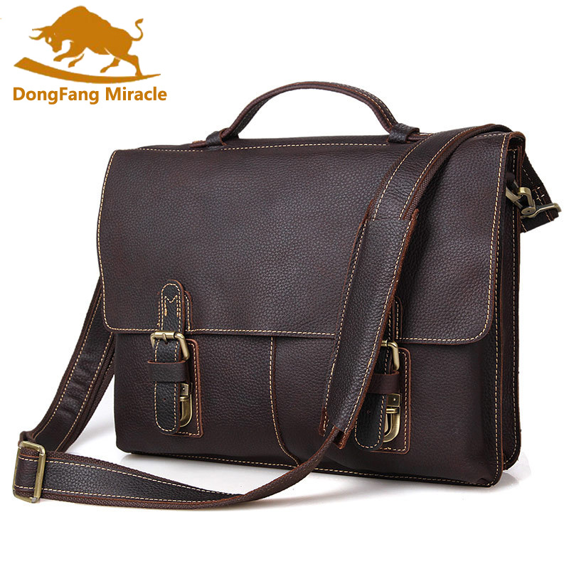 New arrival Vintage Crazy Horse Leather men messenger Bag Laptop Bag Business casual style briefcase handbags men's shoulder bag ipad bag handbags male vertical section business briefcase men bag korean trendy men crazy horse bag messenger bag 2016 new