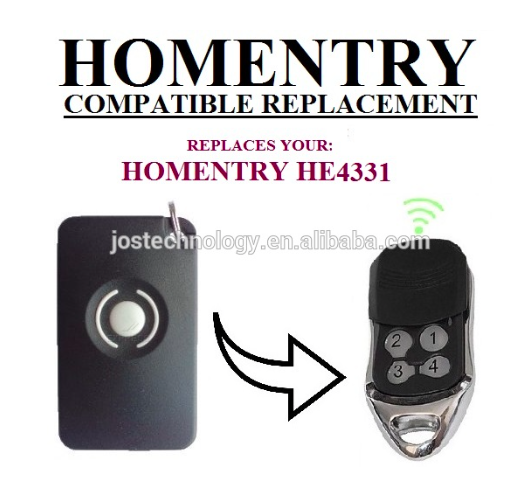 The remote replace for Homentry remote control HE4331